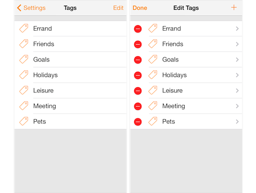 Routines - Organize tasks with tagging